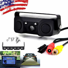 3 In 1 Car Reverse Backup Parking Radar Rear View Camera With Parking Sensor
