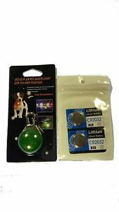 LED Spot Light Carabiner for Pet Dog Collar Leash Harness+ 2 Replacement Battery
