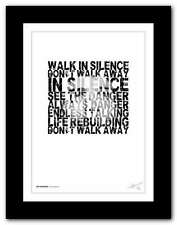 More details for ❤ joy division  - atmosphere ❤  song lyrics typography poster art print #42