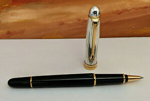 Aurora 88 Sterling Silver 925 with Gold Trim Rollerball Pen, NEAR MINT!