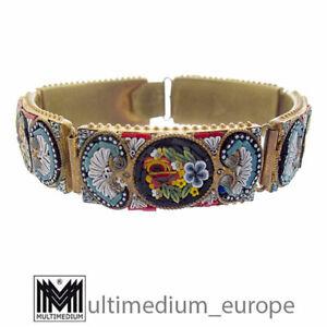 Millefiori Mikromosaik Armband 50er Jahre verg. micro mosaic bracelet 🌺🌺🌺🌺