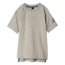 Abbigliamento e accessori grigio adidas per palestra, fitness, corsa e yoga, 100% Cotone