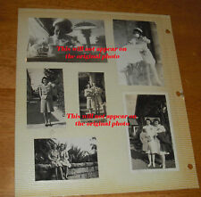 1940's WWII nurse 9 photos lot ODD!  nursing