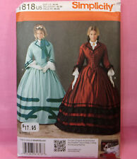 Simplicity 1818 Civil War Costume Belle Top Full Skirt Pattern 2 Looks 16-24 New