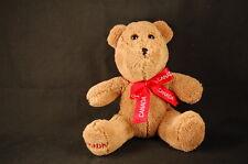 """Teddy Bear Canada Foot Ribbon 7"""" Plush Soft Brown STUFFED ANIMAL LOVEY TOY"""