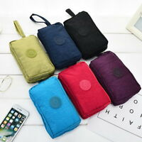 Travel Phone Bag Short Wallet Three- Zipper Purse Big Size Coin Purse