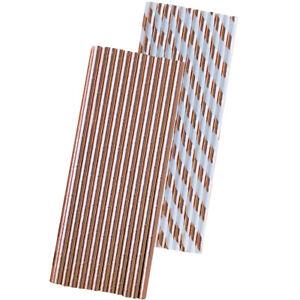 50 Rose Gold Foil Paper Straws
