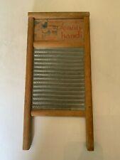 Vintage Scanty Handi Zinc Washboard Columbus Washboard Company