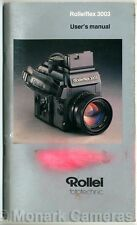 Rollei 3003 35mm Camera Instruction Manual, More Rolleiflex Guide Books Listed