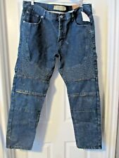JEANIUS by Akademiks~DENIM BLUE JEANS w/ ZIPPERS~Men's 38 x 30~NWT