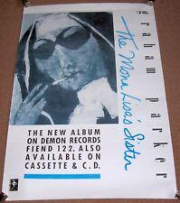 "GRAHAM PARKER REC COM PROMO POSTER ""THE MONA LISA'S SISTER"" DEBUT SOLO LP 1988"