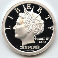 2008 Norfed 50 Liberty Anniversary .999 Silver Art Medal 1 oz Proof Round AZ760