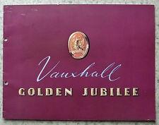 Vauxhall Velox & Wyvern Golden Jubilee de ventas de automóviles folleto 1954 #V 992/8/53