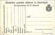 Italia Regno - FRANCHIGIA MILITARE