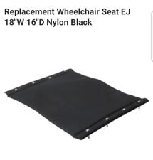 "NO.669494 Replacement Wheelchair Seat EJ 18""W Nylon Black  FAST SHIPPING!"