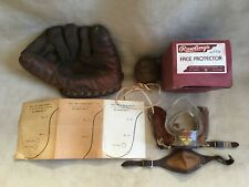 RARE RAWLINGS 1930's SKEETER WEBB PROFESSIONAL MODEL GLOVE PLUS FACE PROTECTOR