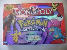 Monopoly: Pokemon Gold & Silver Edition, board game, Brand New Sealed *with DENT