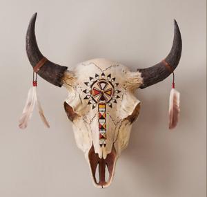 Big Medicine Bison Skull Wall Sculpture by Valeria Yost