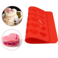 Love Heart Silicone Pastry Cake Macaron Macaroon Oven Baking Mould Sheet Mat