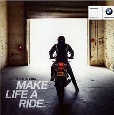Prospekt BMW Motorräder 2015 Highlights Motorradprospekt S1000RR C650GT S1000XR