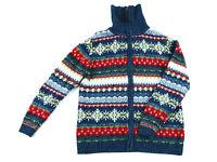 Annex Casual Corner Women's Full Zip Xmas Snowflake Christmas Sweater Size S