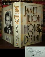 Leigh, Janet HOUSE OF DESTINY Signed 1st 1st Edition 1st Printing