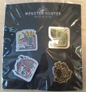 Monster Hunter World Official Pin Badge Set Promotional (New) Fan Merch Capcom
