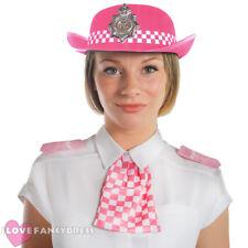 Mesdames Police Hat WPC rose feutre Police Woman Déguisement Enterrement Vie Jeune Fille Soirée Cop