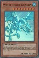YuGiOh White Night Dragon - LCGX-EN205 - Ultra Rare - 1st Edition Lightly Played