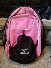 Mizuno Aerostrap Backpack Pink Softball Soccer Bag Camping Hiking Multi Purpose