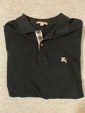 Burberry Brit Men's Short-Sleeve Pique Polo Shirt Nova Check Pattern Black