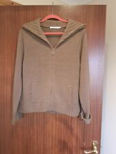 M&Co Ladies Brown Tan Woollen Zipper Cardigan XXL 18/20