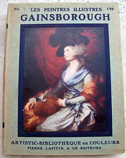 1925 MONOGRAFIA IN FRANCESE SUL PITTORE INGLESE THOMAS GAINSBOROUGH
