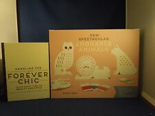 Lot of 2 Forever Chic Beauty Style Book and Sew Spectacular Adorable Animals