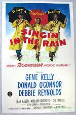 80's Vintage SINGIN' IN THE RAIN ☆ Gene Kelly Debbie Reynolds Lobby Card Poster