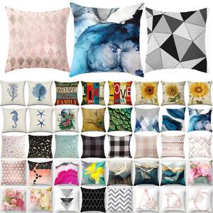 Geometric Square Throw Cushion Cover Waist Pillow Case Sofa Home Bedroom Decors