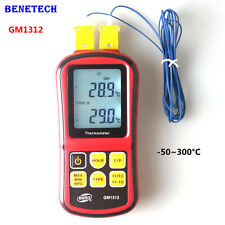 GM1312 Digital K Type Thermocouple Temperature Meter Monitor -50~300℃ Termometro