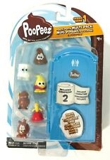 Poopeez Series 1 Porta Potty Multi Pack Squishy 6 Collectible Toy BASIC FUN