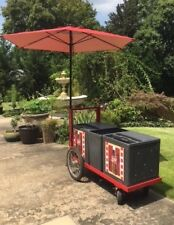Vintage Coca - Cola Cart with Umbrella