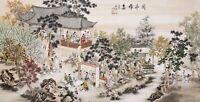 100% ORIGINAL ASIAN FINE ART CHINESE FAMOUS WATERCOLOR PAINTING-Gaoshi People
