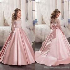 Girls\' Long Sleeve Lace Dresses (Sizes 4 & Up) | eBay