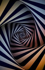 Framed Print - Colourful Spiral Hole (Poster Picture Optical Illusion Art)