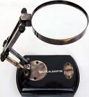 Antique Kelvin & Hughes London Desk Magnifier Wooden Foldable Magnifying Glass