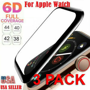 3x Tempered Glass Protector Screen For Apple Watch iWatch 38/40/42/44 mm 6 5 4 3