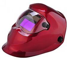 Red Solar Power Auto Darkening Welding Helmet Large View (3.66 X 1.69 ) ARC TIG
