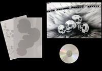Airbrush Schablone Step by Step / Stencil  / 0667 vers. Schädel / Skull & CD