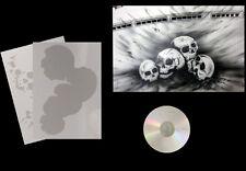 Step by Step Airbrush Schablone/Stencil 0667 vers.Schädel/Skull &. Anleitungs CD