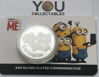 Minions Toys Despicable Me Gifts Collectable Limited Edition Silver Coin - RARE