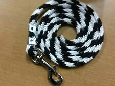 Nylon Poly Mini Horse Pony goat sheep dog Lead Rope Usa black/white candy can