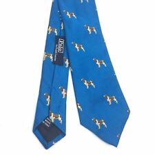 Polo Ralph Lauren Italy Best In Show Springer Spaniel Dog Blue Silk Tie Hunting